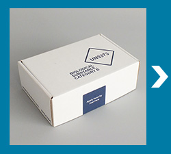 UN3373 Compliant rigid outer box